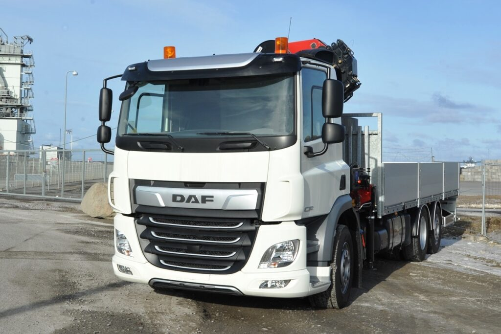 STARK far forste fuld elektriske DAF CF lastbil i Danmark med Banke kraftudtags-løsning